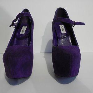 Purple Steve Madden heels size 8m
